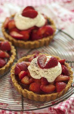Strawberry-marsala Tarts with Mascarpone Whipped Cream