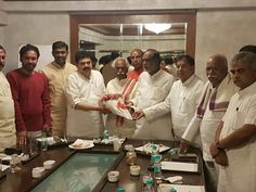 Congratulated Shri Ramchander Rao Naraparaju, MLC on his appointment as BJP Hyderabad City President along with BJP State leaders in Hyderabad.