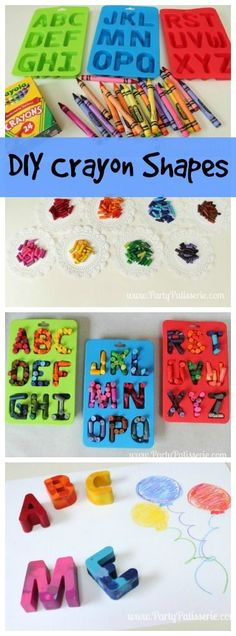 DIY Crayon Shapes! Kids will love making your own colorful crayons! Great summer activity!