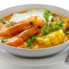 Shrimp Chowder, Shrimp Soup, Salsa Verde, Potato Dishes, Veggie Dishes, Causa Rellena Recipe, Wine Recipes, Cooking Recipes, Shrimp Recipes