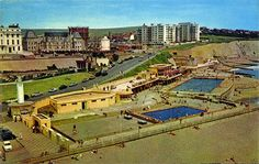 Photo: Illustrative image for the Black Rock Swimming Pool page Brighton Sussex, Brighton England, Brighton And Hove, East Sussex, Seaside Shops, Seaside Theme, Old Pictures, Old Photos, Vintage Photos