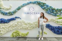 Ride the Wave 🌊 outdoor installations like this floral wave wall Chandelier Events created as a 3D step and repeat at a swimwear launch in New York City. Corporate Flowers, Experiential, Amy, Chandelier, Product Launch, Waves, Wreaths, Floral, Outdoor