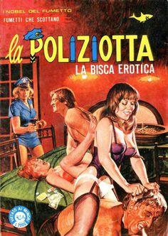 'La Poliziotta' adult fumetti covers