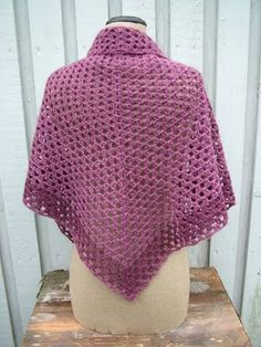 crochet shawl.  Pretty purple!