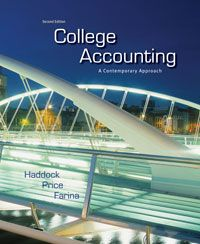28 free test bank for College Accounting A Contemporary Approach 2nd Edition by Haddock multiple choice questions not only assist the instructors in teaching effectively but also is the free important accounting questions bank resources for learners to prepare before the coming exam. Try it with free questions and instant answers and you will find out you do not have to worry about failing the exams.