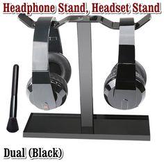 Acrylic Earphone Headset Desk Display Stand Hanger Holder For Headphone 4H