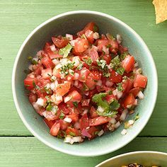 This chunky salsa is not only a #party favorite, but it's also ready in just 15 minutes.