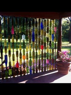 Bottle Wall is a DIY you'll love to try Add an amazing privacy screen to your garden or patio with this crafty and clever Glass Bottle Fence.Add an amazing privacy screen to your garden or patio with this crafty and clever Glass Bottle Fence.