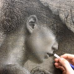 Drawn to Greatness - pen-ink by Daniel Bilmes Modern Drawing, Daily Drawing, Body Drawing, Pencil Portrait, Portrait Art, Pastel Drawing, Painting & Drawing, Nature Drawing, Drawing Projects