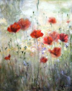 poppy painting.... i would decorate a whole room around this painting... it's GORGEOUS!