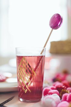 Gem cocktail stirrers for Valentine's Day party fun!