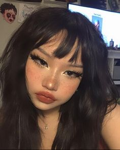 Edgy Makeup, Grunge Makeup, Makeup Inspo, Makeup Inspiration, Beauty Makeup, Hair Makeup, Punk Makeup, Anime Makeup, Soft Makeup