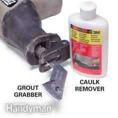 A special scraper and grout remover