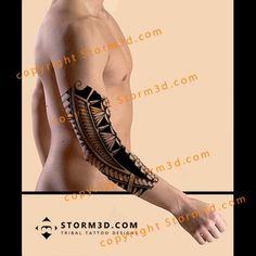 elbow-tattoo-polynesia-art-tattooflash-tribal-design-examples
