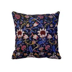 19th Century Textile Print - Design by Morris Pillows #throwpillow #pillow #homedecor #victorian #morrisprint #vintage