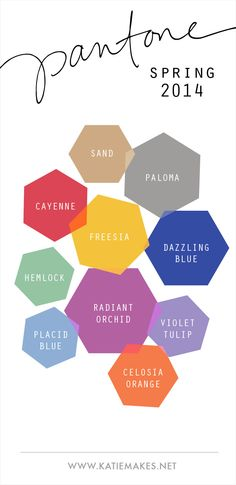 Pantone Colors - Spring 2014 // #pantone #color