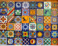 100 azulejos Talavera pintadas a mano 2 X 2 por MexicanTiles