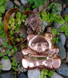 FREE SHIPPING..Set of 2-Vintage Copper Cookie by ellansrelics02