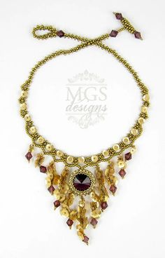 Amethyst Ever After Necklace and Earrings Set - Beading Pattern/Tutorial Downloadable PDF