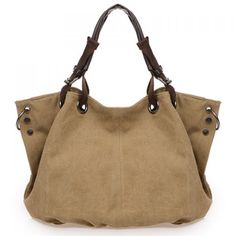 Casual Rivets and Canvas Design Tote Bag For Women