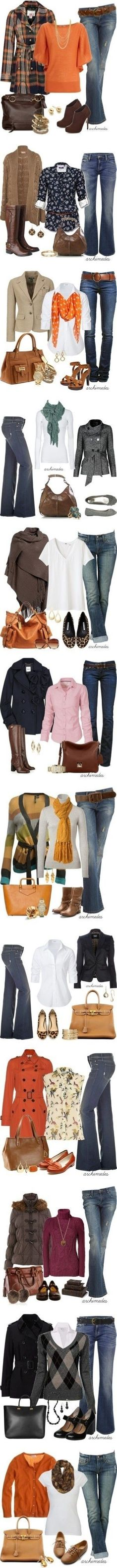 Are you wondering what to wear this fall? Want to know how to put together cute fall outfits? Well, this is your resource for style inspiration and fashion tips for all your fall outfit needs. Mode Outfits, Casual Outfits, Fashion Outfits, Womens Fashion, Fashion Purses, Jeans Fashion, Fashion Hair, Fall Winter Outfits, Autumn Winter Fashion
