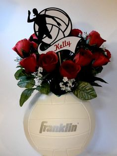 Table Decorations for Volleyball Banquet Diy Volleyball Gifts, Volleyball Birthday Party, Volleyball Decorations, Volleyball Posters, Volleyball Drills, Coaching Volleyball, Volleyball Quotes, Volleyball Ideas, Sports Banquet Centerpieces