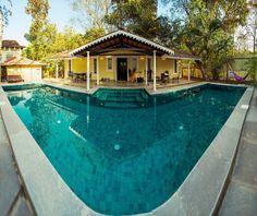 By the pool at Ishanya