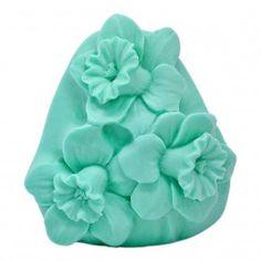 Molde de silicona  Pastilla Jabón, Narcisos. Ideal para #hacerambientadores, jabones, perfecto para #hacerdetalles. Apto para escayola, resina, cera, jabón.. #DIY