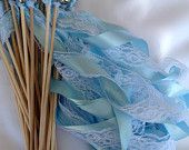 Lace, ribbons and bells on a dowel makes a fun wand!