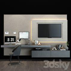 Bedroom Tv Wall, Wall Tv, Tv Cabinet Wall Design, Tv Unit Furniture Design, Modern Tv Wall Units, Living Room Tv Unit Designs, Living Room Decor Inspiration, Master Bedroom Design, Luxurious Bedrooms