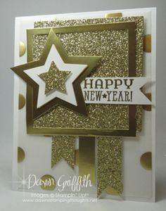 Count down Happy New Year hour 4 Dawn Griffith Stampin up! New Year Cards Handmade, Happy New Year Cards, New Year Greeting Cards, New Year Greetings, Beautiful Handmade Cards, Handmade Birthday Cards, Greeting Cards Handmade, Holiday Cards, Christmas Cards