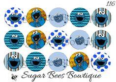 Cookie Monster Bottle Cap Images
