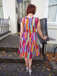 Tammy 2 dress - Sewaholic Cambie bodice and skirt from Simplicity 1419