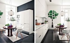 Loving the color contrasts.  design attractor: Ultrachic Home in Lisbon