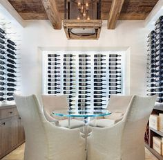 Need a Wine for Dinner ? Pick One (or 2) from the Wall... Top Wine Cellar #Design