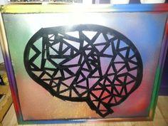 Geometric brain art