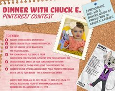 Chuck E. Cheese's Valentine's Pinterest Contest Official Announcement Pin #FlatChuckE