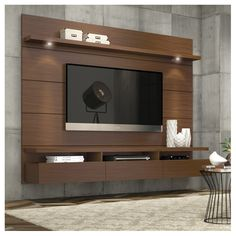 Best Pallet Projects Manhattan Comfort Cabrini Theater Floating Entertainment Center – The sleek, clutter-free Manhattan Comfort Cabrini Theater Entertainment Center transforms your living room in one fell swoop. Living Room Tv Unit, Home, Wall Mounted Tv, Entertainment Center Wall Unit, Tv Wall Design, Floating Entertainment Center, Living Room Wall, Tv Unit Design, Living Room Tv