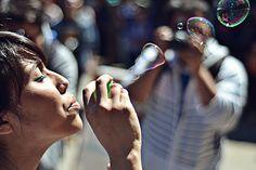 Niña de las Burbujas