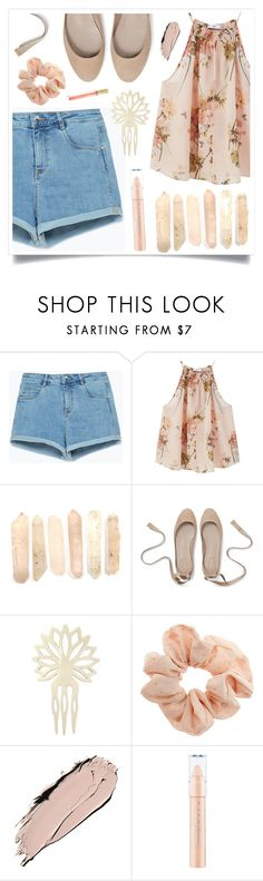 """""""Chic Summer Girl"""" by racanoki ❤ liked on Polyvore featuring Zara, MANGO, Yves Saint Laurent, Topshop, Max Factor, contestentry and RaCaNoKi"""