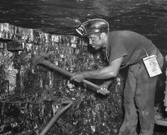 In the early years of coal mining, miners used a pick and shovel