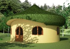 Build a hobbit house hobbit house plans hobbit house plans hobbit house build a hobbit house . build a hobbit house Building Plans, Building A House, Roof Styles, House Styles, Earth Bag Homes, Living Roofs, Mushroom House, Unusual Homes, Natural Building