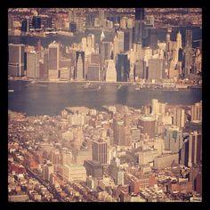 NYC. Manhattan, bird's eye view
