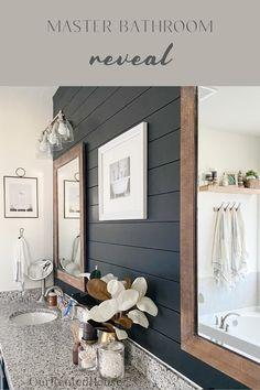 Bathroom Renos, Bathroom Renovations, Home Remodeling, Bathroom Ideas, Budget Bathroom, Bathroom Small, Shiplap Master Bathroom, Modern Bathroom, Master Bath Remodel