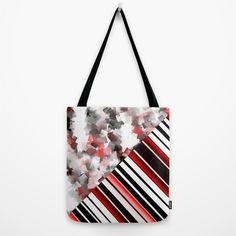 Buy black and white meets red Version 7 Tote Bag by Christine baessler. Worldwide shipping available at Society6.com. Just one of millions of high quality products available.