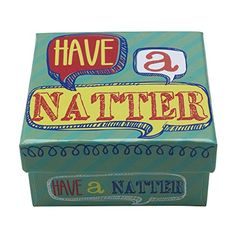 Talking Tables 'Have A Natter' Quiz Party Pocket & Table Game (Stocking Filler) Lakeland http://www.amazon.co.uk/dp/B00NB6ALNG/ref=cm_sw_r_pi_dp_pm6Dub1F2M51P