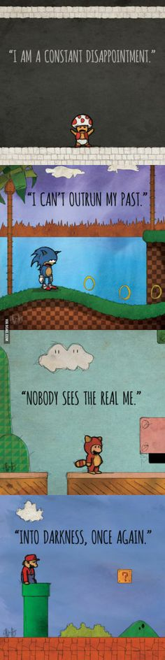Depressed Super Mario characters.