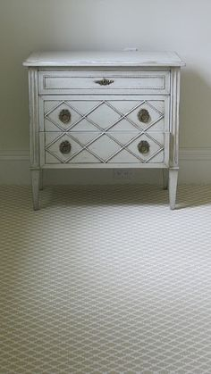 Pretty nightstands for a bedroom.