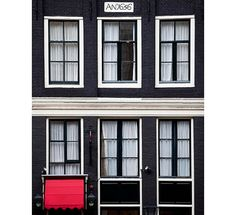 Amsterdam Print Scandinavian Decor Travel by EyePoetryPhotography New York Photography, Travel Photography, Art Photography, Best Travel Clothes, Europe Spring, Scandinavian Architecture, White Wall Decor, Red Black, Black And White