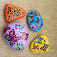 I love these pretty and colorful butterfly stones!!